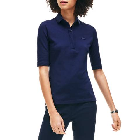 Lacoste Navy Half Sleeve Polo Shirt