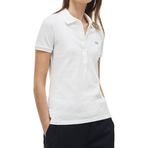 Lacoste White Slim Fit Polo Shirt