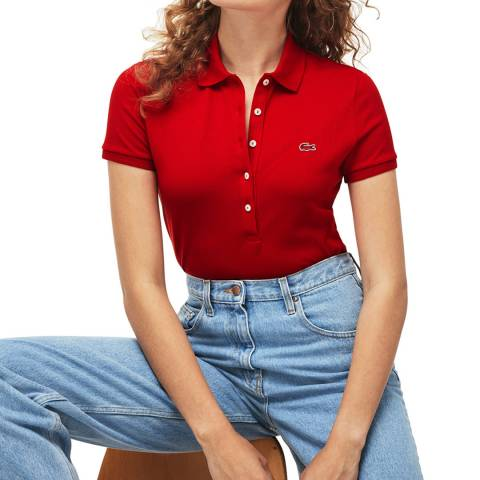 Lacoste Red Slim Fit Polo Shirt
