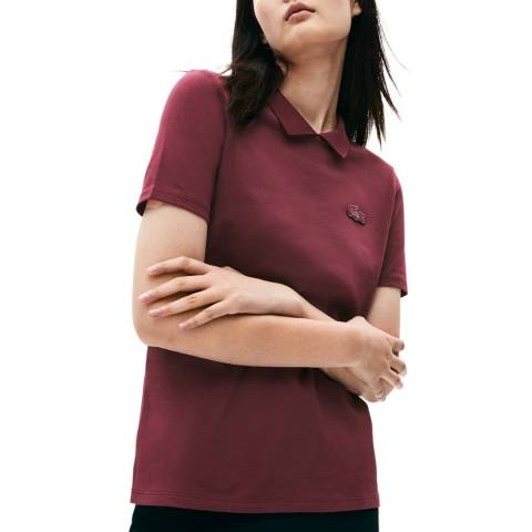 Lacoste Deep Red Cotton Stretch Polo Shirt