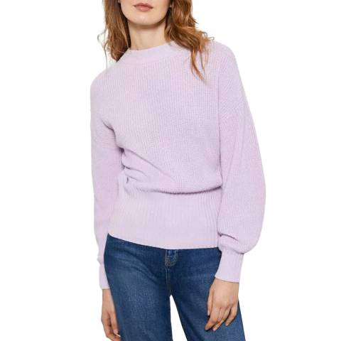 Mint Velvet Lilac Cotton Balloon Jumper