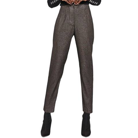 Mint Velvet Metallic Houndstooth Trousers