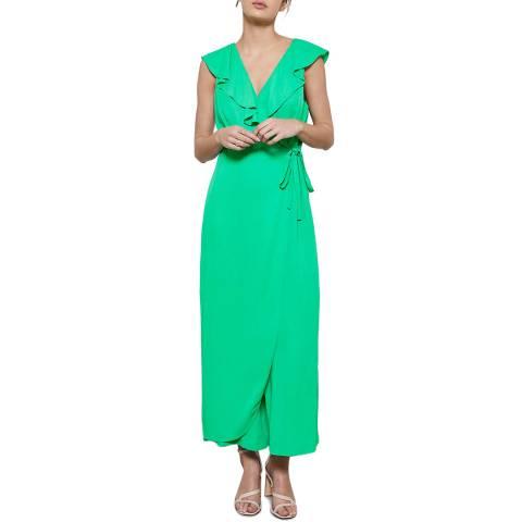 Mint Velvet Green Ruffled Wrap Jumpsuit