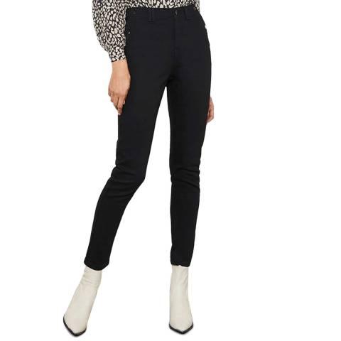 Mint Velvet Black Joliet Military Skinny Jeans