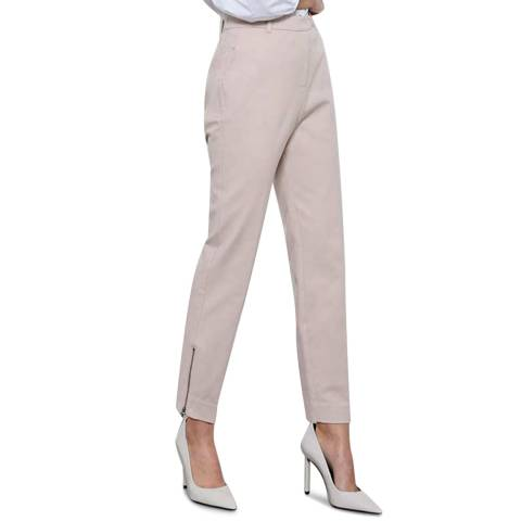 Mint Velvet Blush Zip Capri Trousers