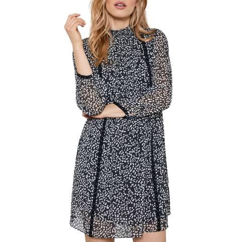Mint Velvet Verity Black Spot Mini Dress