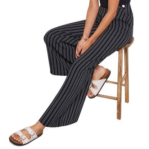 Mint Velvet Navy Striped Wide Leg Trousers