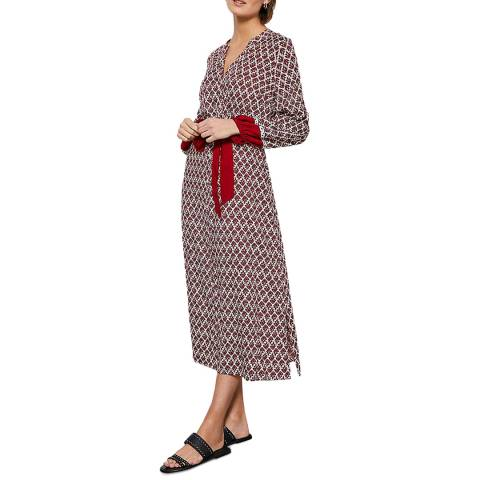 Mint Velvet Samantha Print Boho Midi Dress