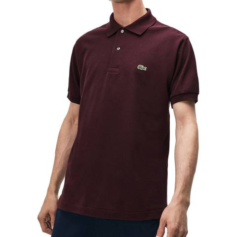 Lacoste Burgundy Classic Fit Polo Shirt