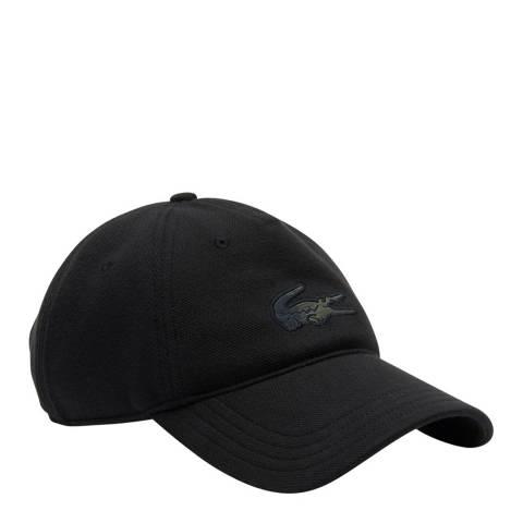 LACOSTE SPORT Black Mono Logo Cap