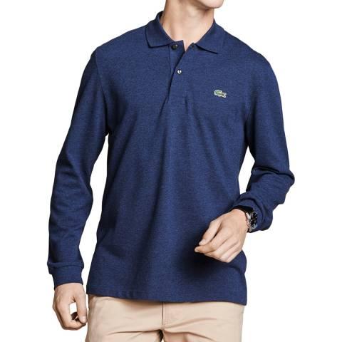 Lacoste Indigo Classic Fit Long Sleeve Polo Shirt