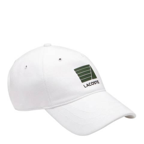 Lacoste White Print Logo Cap