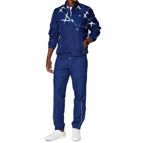LACOSTE SPORT Blue Abstract Tracksuit