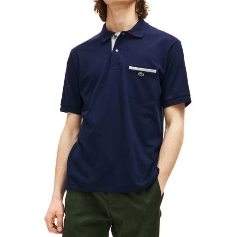 Lacoste Navy Contrast Polo Shirt