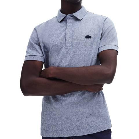 Lacoste Indigo Concealed Polo Shirt