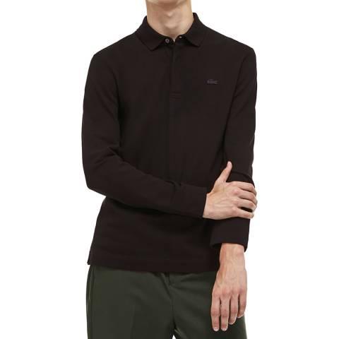 Lacoste Black Long Sleeve Polo Shirt