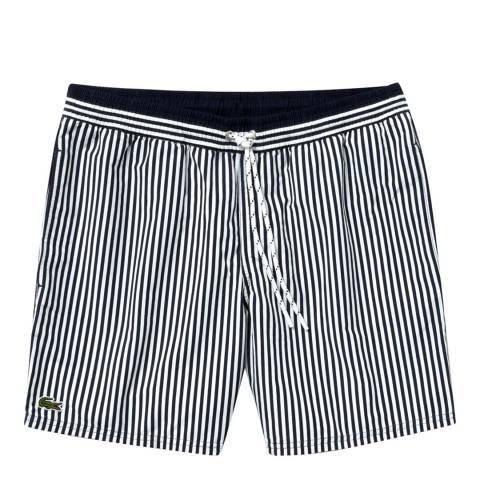 Lacoste Navy Stripe Swim Shorts