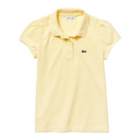 Lacoste Girl's Yellow Scalloped Collar Polo