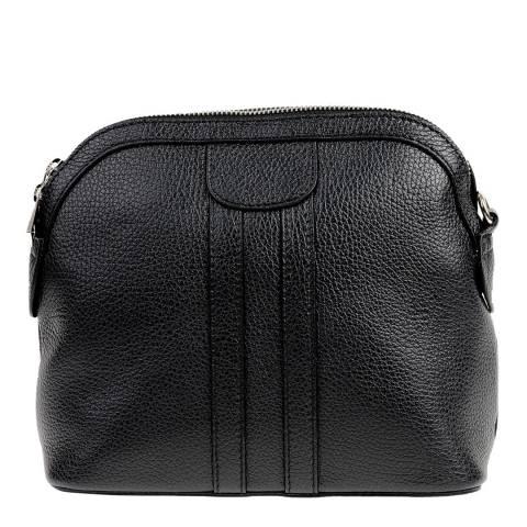 Carla Ferreri Black Leather Crossbody Bag
