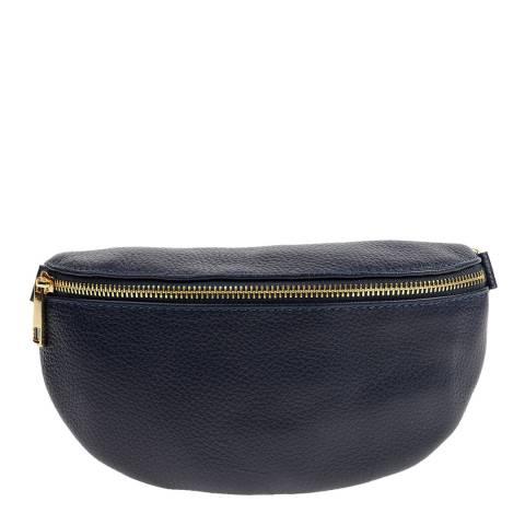 Carla Ferreri Navy Leather Belt Bag