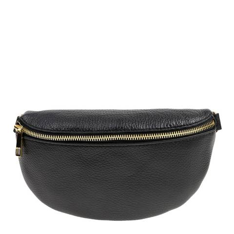 Carla Ferreri Black Leather Belt Bag