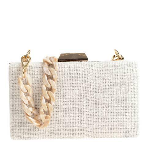 Carla Ferreri Beige Shoulder/Clutch Bag