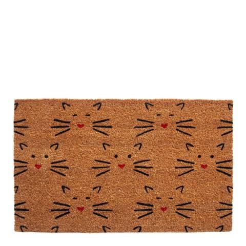 Entryways Love Cats Coir Doormat, 43x71cm