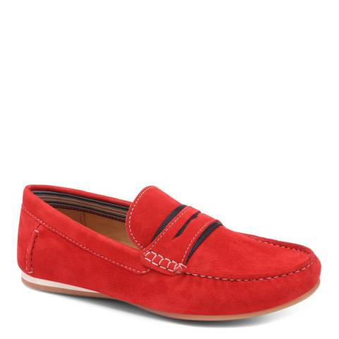 JONES BOOTMAKER Red Casual Moccasins