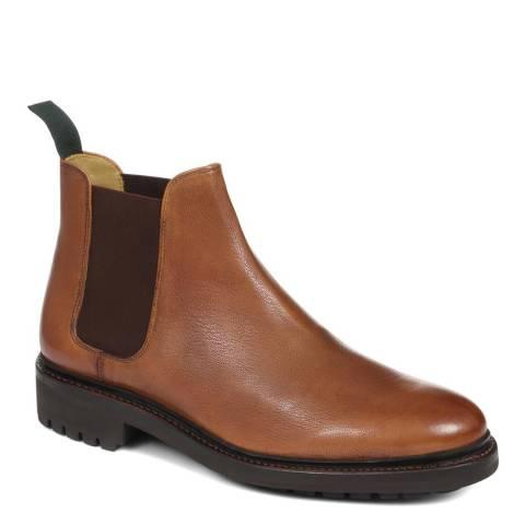 JONES BOOTMAKER Brown Smart Chelsea Boots