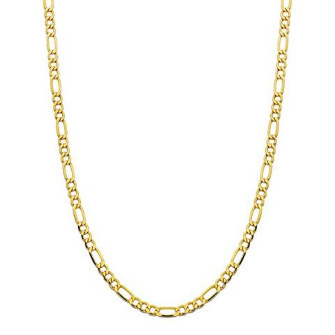 Stephen Oliver 18K Gold Plated Chain Figaro Link Necklace