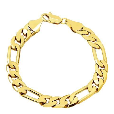 Stephen Oliver 18K Gold Plated Figaro Chain Bracelet