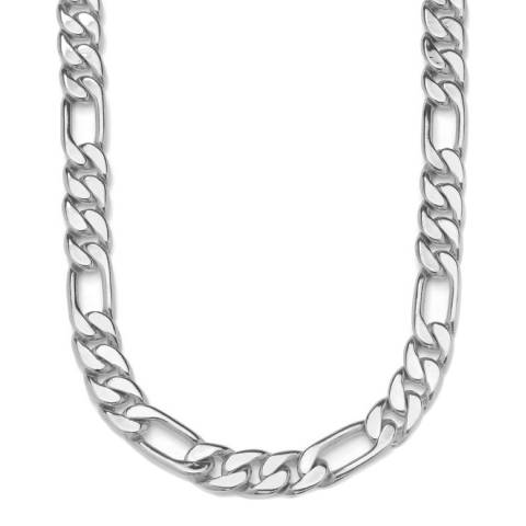Stephen Oliver Silver Plated Figaro Necklace