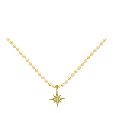 Liv Oliver 18K Gold Plated Star Pendant Necklace