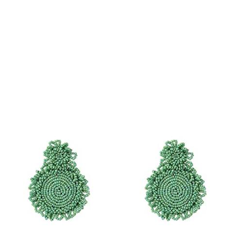Liv Oliver Turquoise Boho Round Earrings