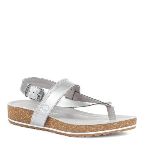 JONES BOOTMAKER Silver Casual Toe Post Sandals