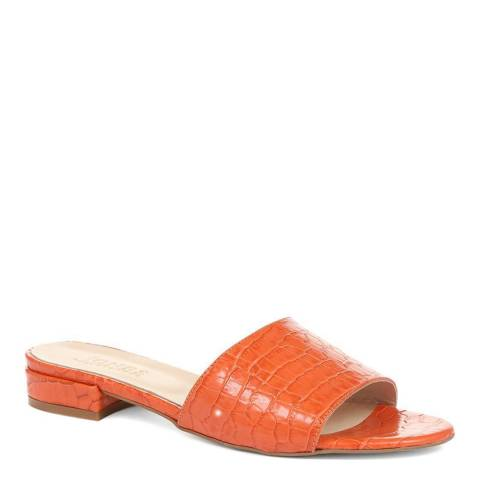 JONES BOOTMAKER Orange Smart Leather Mules