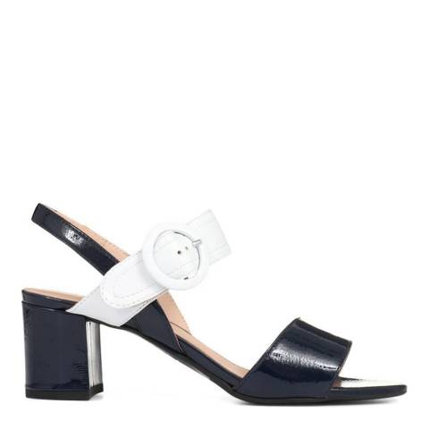 JONES BOOTMAKER Navy/White Smart Leather Sandals