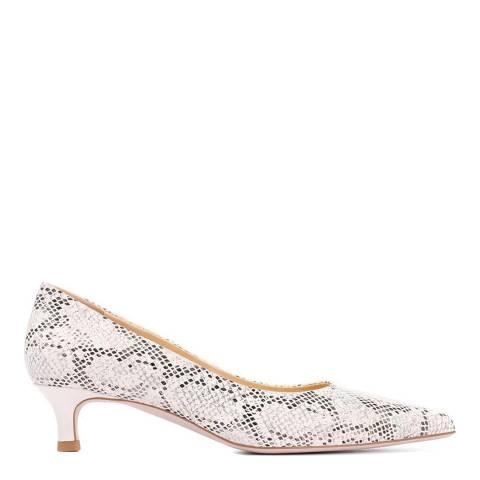 JONES BOOTMAKER White Smart Leather Court Shoes