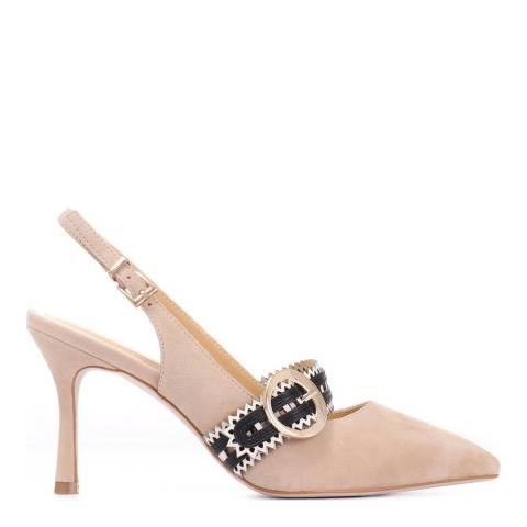 JONES BOOTMAKER Beige Smart Leather Court Shoes