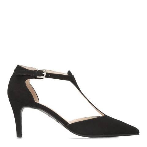 JONES BOOTMAKER Black Smart Leather Court Shoes