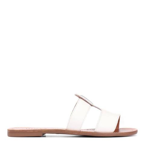 JONES BOOTMAKER White GVD Casual Leather Mules