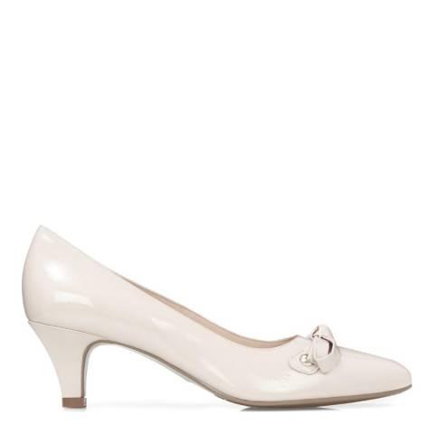 JONES BOOTMAKER Nude Smart Leather Court Shoes