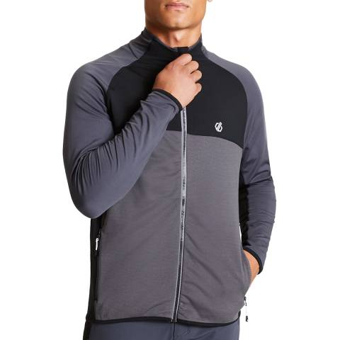 Dare2B Grey/Black Forgo Fleece Hoodie