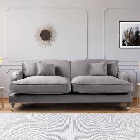 The Great Sofa Company The Piper 3 Seater Sofa, Velvet Grey