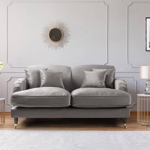 The Great Sofa Company The Piper 2 Seater Sofa, Velvet Grey