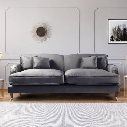 The Great Sofa Company The Piper 3 Seater Sofa, Velvet Cosmic
