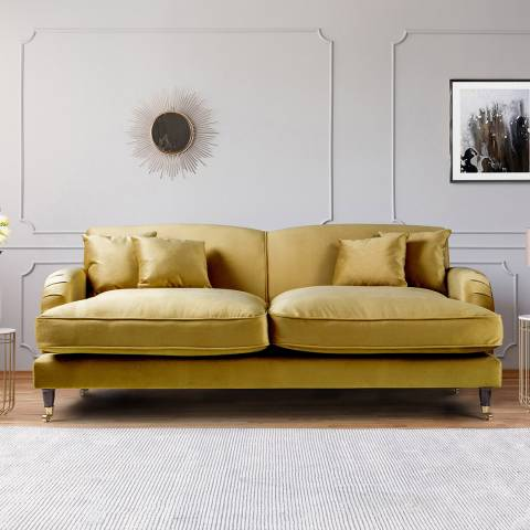 The Great Sofa Company The Piper 3 Seater Sofa, Velvet Gold