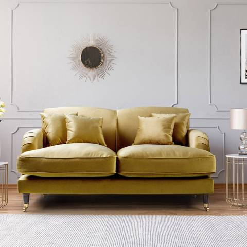 The Great Sofa Company The Piper 2 Seater Sofa, Velvet Gold