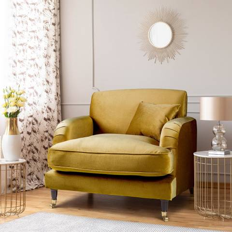 The Great Sofa Company The Piper Armchair, Velvet Gold