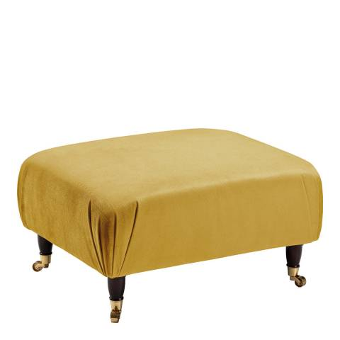 The Great Sofa Company The Piper Footstool, Velvet Gold